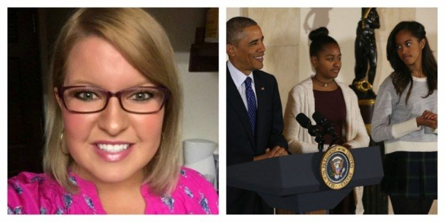 Elizabeth Lauten Obama daughters row