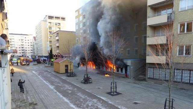 Eskilstuna mosque set on fire