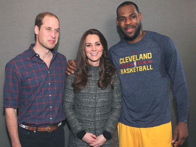 James LeBron breaks royal protocol with Kate Middleton