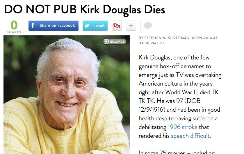 write an obituary