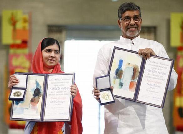 Malala Yousafzai and Kailash Satyarthi Nobel Peace Prize