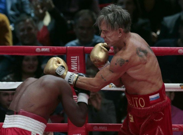 Mickey Rourke boxing match Elliott Seymour