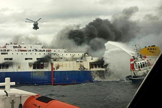 Norman Atlantic ferry on fire