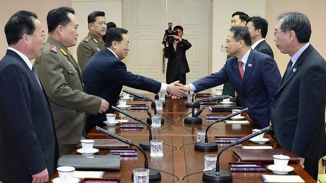 North Korea and South Korea high level talks