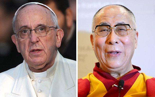 Pope Francis and Dalai Lama