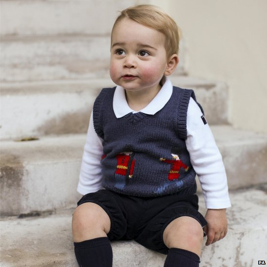 Prince George 2014 Christmas photo