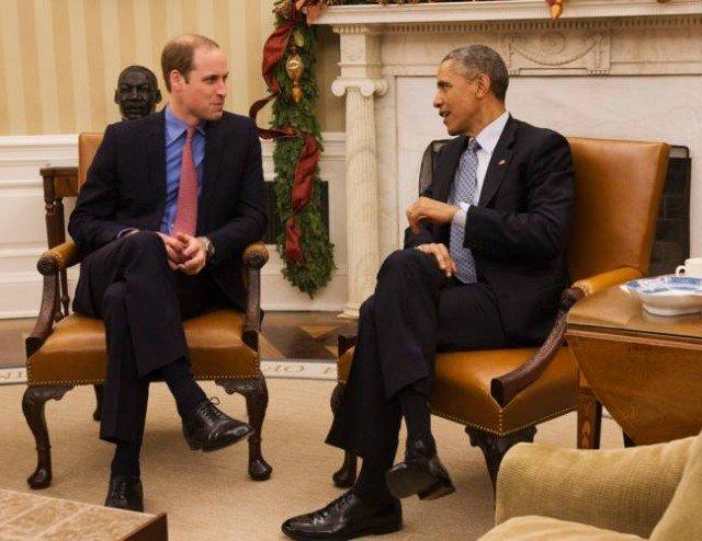 Prince William meets Barack Obama