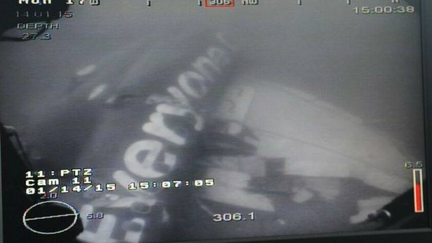 AirAsia Flight QZ8501 fuselage in Java Sea