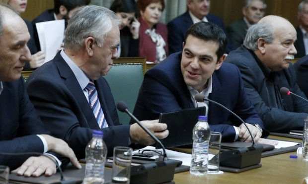 Alexis Tsipras first cabinet meeting