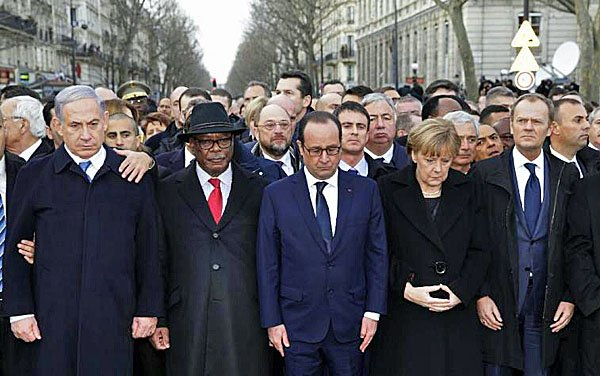 Barack Obama absence Paris unity rally