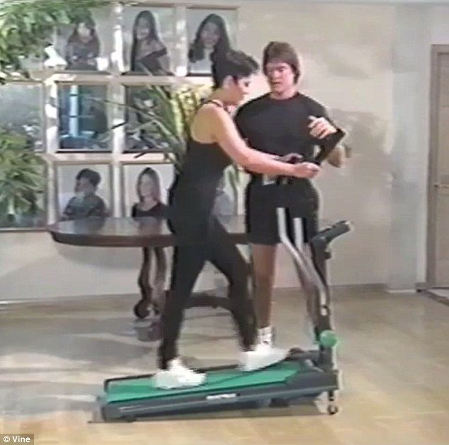 Bruce and Kris Jenner starred in 90's workout infomercial for Power Walk Plus