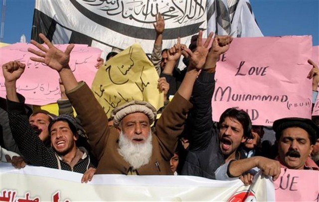 Charlie Hebdo protests in Pakistan
