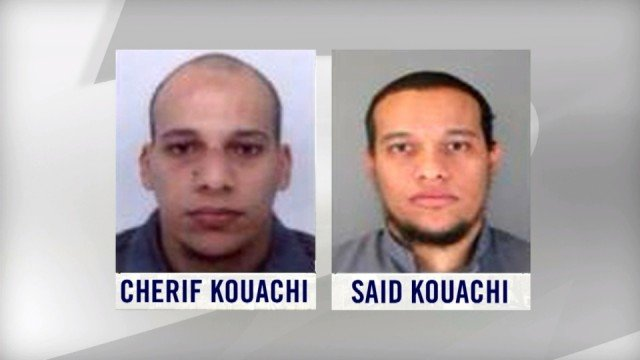Charlie Hebdo suspects Cherif and Said Kouachi