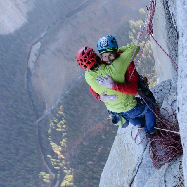 Kevin Jorgeson and Tommy Caldwell reach El Capitan peak