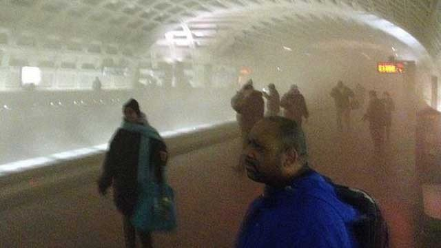 L'Enfant Plaza subway station smoke