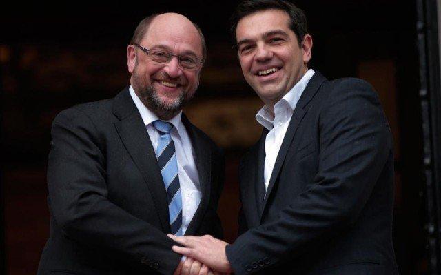 Martin Schulz and Alexis Tsipras