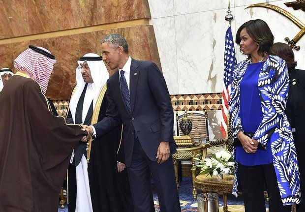Michelle Obama outfit in Saudi Arabia