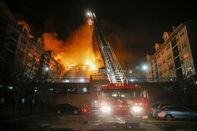 New Jersey fire Edgewater building apartment