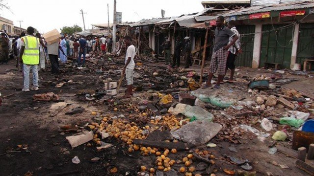 Nigeria market explosion