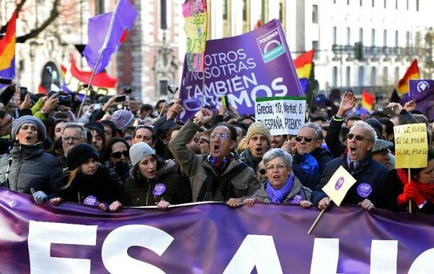 Podemos March for Change Madrid