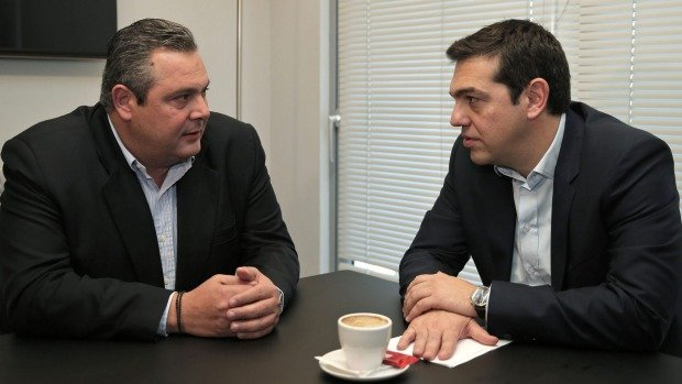 Syriza forms anti-austerity coalition with Independent Greeks