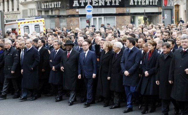 World leaders Paris unity rally