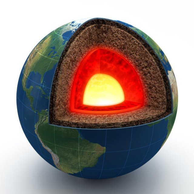 Earth inner core has a core