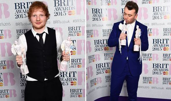 Ed Sheeran and Sam Smith win top prizes at BRIT Awards 2015