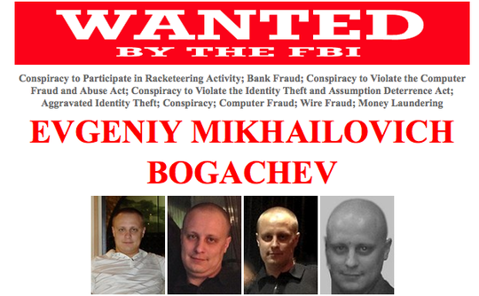 Evgeniy Bogachev FBI most wanted cyber criminal