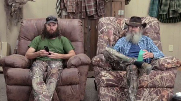 Jase Robertson and his uncle Si Robertson