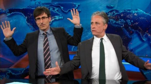 John Oliver and Jon Stewart Daily Show