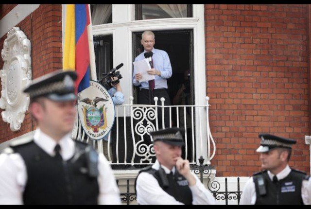 Julian Assange policing Ecuador embassy