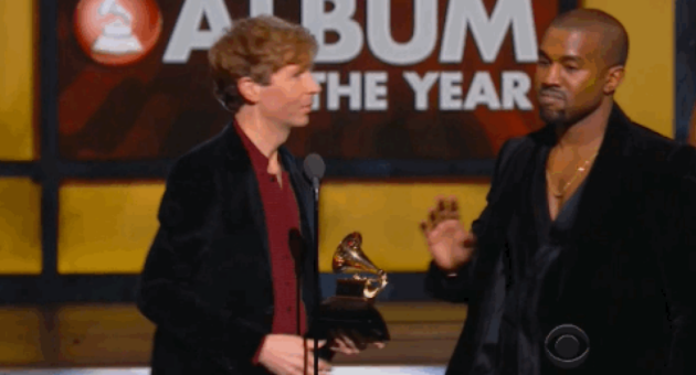 Kanye West interrupts Beck at Grammys 2015
