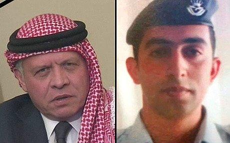 King Abdullah of Jordan pilot Moaz al-Kasasbeh