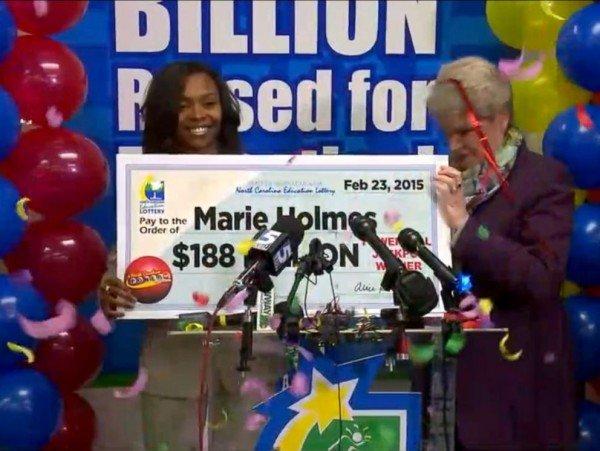 Marie Holmes win Powerball jackpot