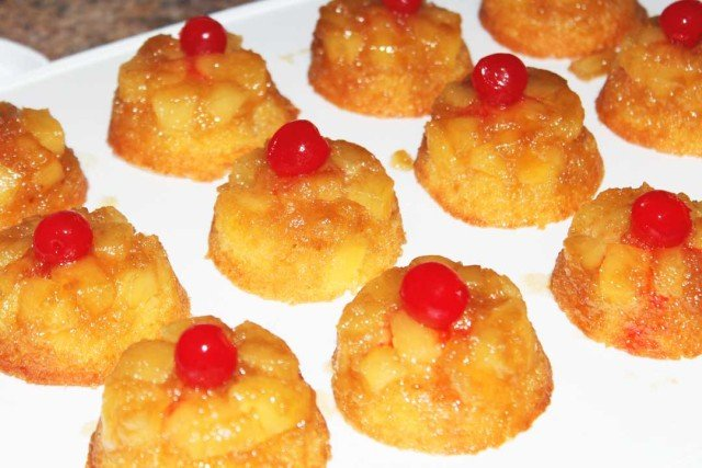 Pineapple upside down cupcakes for Valentine s Day