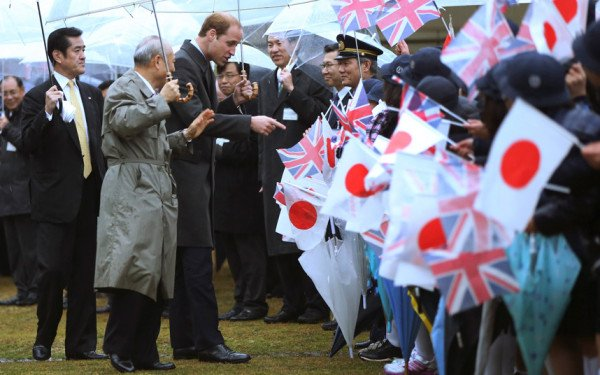 Prince William Japan visit
