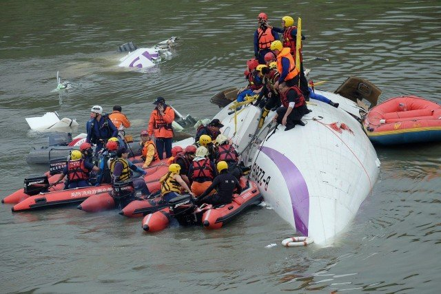 TransAsia plane crash Taiwan river