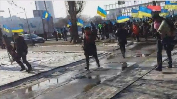 Ukraine bomb blasts at Kharkiv rally