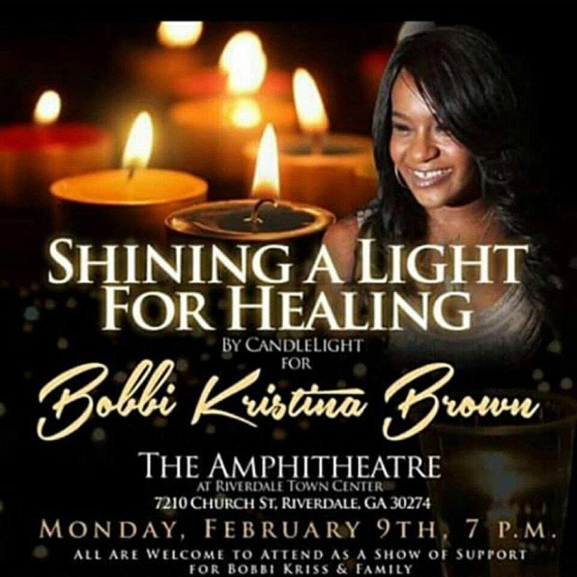 Vigil for healing Bobbi Kristina Brown