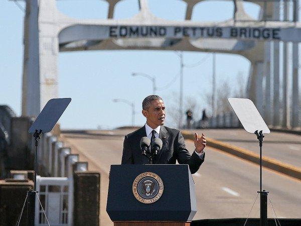 Barack Obama Selma speech Edmond Pettus Bridge