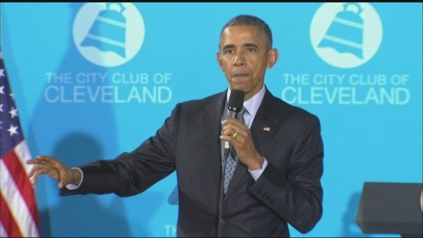Barack Obama mandatory voting Cleveland City Club