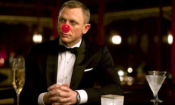 Daniel Craig Comic Relief Red Nose Day 2015
