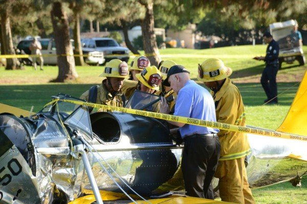 Harrison Ford plane crash in Venice 2015