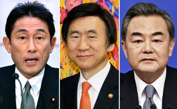 Japan, South Korea and China foreign ministers