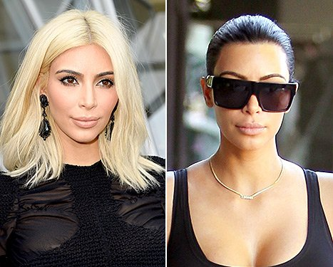 Kim Kardashian blonde and brunette