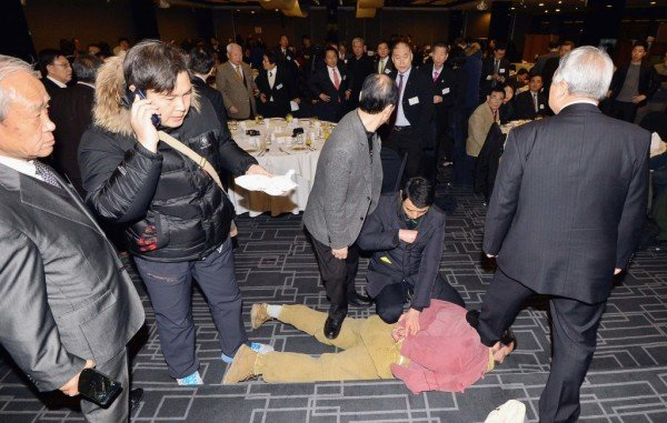 Kim Ki-jong held after knife attack on US Ambassador Mark Lippert