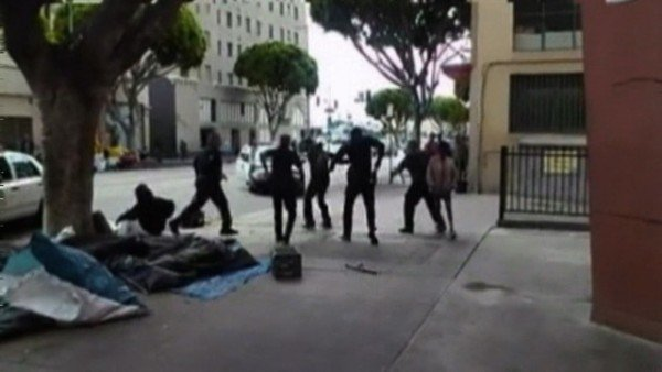 LAPD shooting Africa homeless