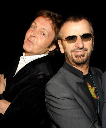 Paul McCartney and Ringo Starr Hall of Fame