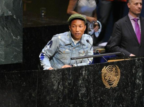 Pharrell Williams at United Nations